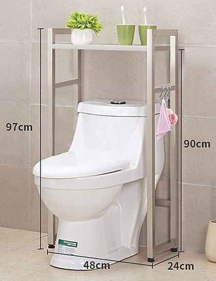 Yingpai Toilet Storage Rack Wc Lagerregal Wc Ablage Badregal Edelstahl Wc Ablage Waschestander Sparen Sie Platz Im Bad Einzel Doppelschicht Amazon De Kuche Haushalt