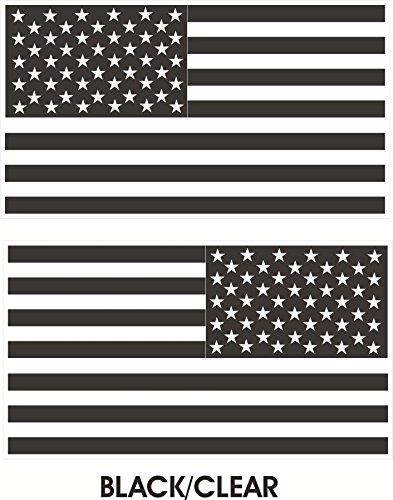 1 Pair Master Unique Black-Clear Subdued Flag Stickers Sign USA Tactical Military Home Car Decor Macbook Laptop Sticker Bike Patches Decals Trucks Window Cars Truck Bumper Wall Decal Size 4