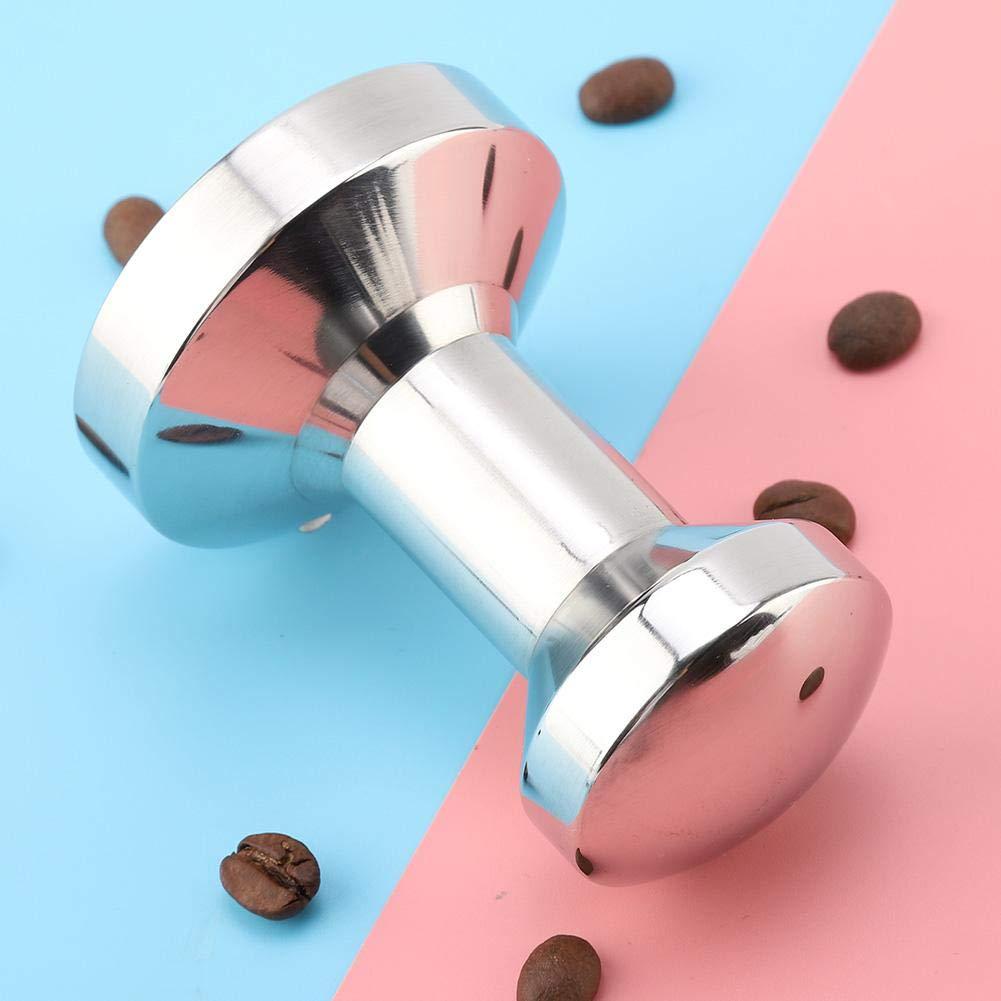 Wifehelper Manipulador de Caf/é 57.5 mm de Acero Inoxidable Base Plana Port/átil Grip Coffee Bean Press Herramienta El/éctrica M/áquina de Caf/é Accesorios