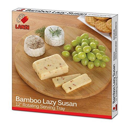 LANSH Bamboo Lazy Susan - in box