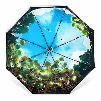 Paraguas Paraguas De Sol Damas Sunscreen Ultra Ligero De Alta Calidad Sombrilla Paraguas Negro De Cola