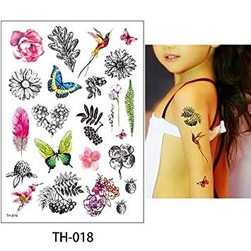 HXMAN 5 Unids 14.8 * 21cm 24 Diseños Diy Tiny Flor Animal Tatuaje ...