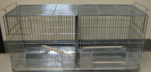 Stack and Lock Double Breeder Cage Bird Breeding Cage With Removable Divider And Breeder Doors 30