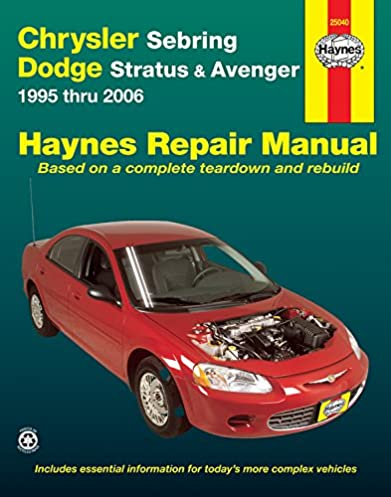 chrysler sebring dodge avenger 1995 2006 repair manual haynes rh amazon com 2009 Dodge Avenger Manual 2009 Dodge Avenger Manual