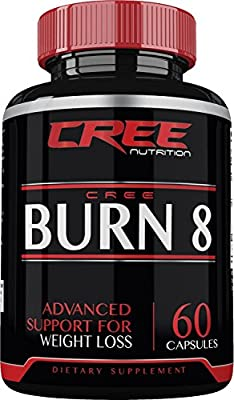 CREE Nutrition Burn 8 Advanced Weight Loss Supplement - Thermogenic Fat Burner with Muscle Preserving Properties - 60 Capsules - Made in the USA …