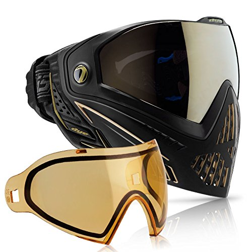 Dye i5 Paintball Goggle - Onyx/Gold with HD Thermal Lens Combo by Dye