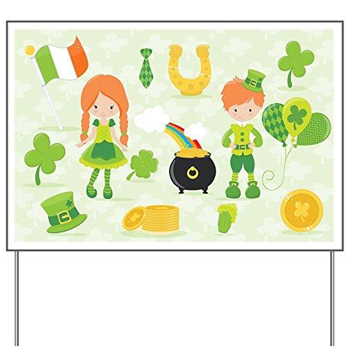 Yard Sign Irish St. Patrick's Day Shamrock World