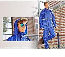 WarmClothing Unisex Traje Impermeable Moto Lluvia sobre ...