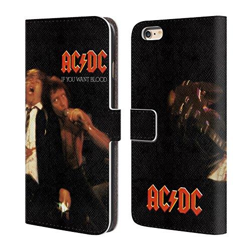 Officiel AC/DC ACDC Si Vous Voulez Sang Couverture D'album Étui Coque De Livre En Cuir Pour Apple iPhone 6 Plus / 6s Plus