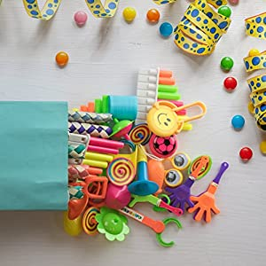 Bulk Toys Party Favors for Kids - 120 Pc Birthday Party Favor Toy Assortment for Goodie Bags Party Bags and Pinata Prizes