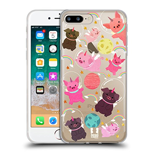 - Head Case Designs Pig Space Unicorns Soft Gel Case for iPhone 7 Plus/iPhone 8 Plus