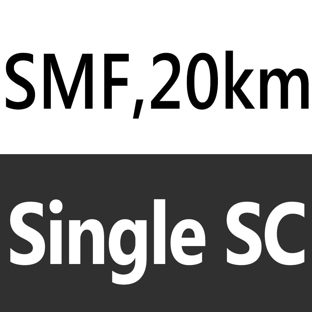 Bi-Di SC Single Mode Gigabit Ethernet Media Converter- Auto Sensing Gigabit or Fast Ethernet Speed,RJ45 to SC, 20KM-1Pair by H!Fiber.com