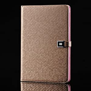 New Dimond Grain Pattern Card Wallet Protective PU Leather Case Cover with Stand for iPad Mini 2/iPad Mini (Gold)