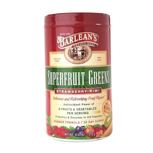 Barlean's Organic Oils Superfruit Greens, Strawberry-Kiwi 10 oz (270 g)