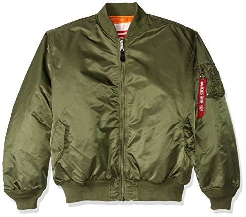 Alpha Industries Men's MA-1 Blood Chit Flight Bomber Jacket, Sage, 4X