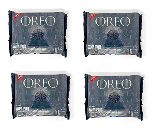 (Oreo Game of Thrones Themed Chocolate Cookies - Limited Edition - Pack of 4 Bags - 15.25 oz per Bag)