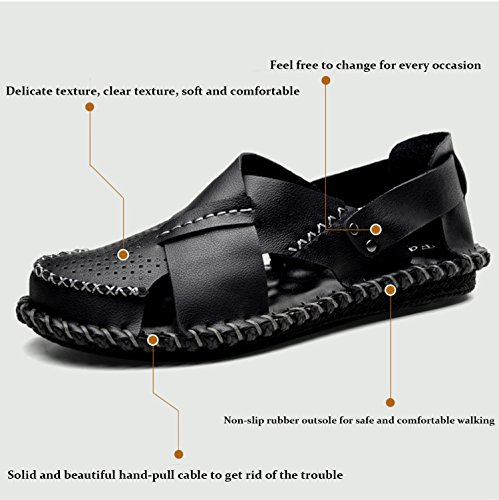 da suola Pakamo vera estate casual sandali suola uomini scarpe pelle scarpe da in khaki acqua spiaggia in uomo esterni pescatore gomma pantofole Sandali NANXIE wFAaa