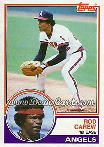 1983 Topps # 200 Rod Carew Los Angeles Angels (Baseball Card) Dean's Cards 8 - NM/MT - Rod Carew Baseball Card
