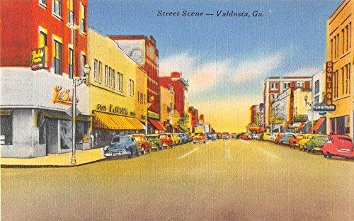 Valdosta Georgia Unspecified Street Scene Showing Stores Antique Postcard - Stores Valdosta