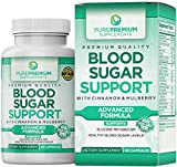 Premium Blood Sugar Support Supplement by PurePremium (Non-GMO) Promote Glucose Metabolism and Cardiovascular Health