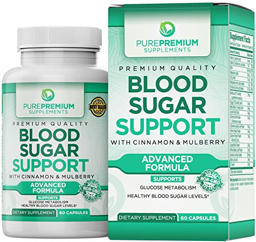 Premium Blood Sugar Support Supplement by PurePremium (Non-GMO) Promote Glucose Metabolism and Cardiovascular Health
