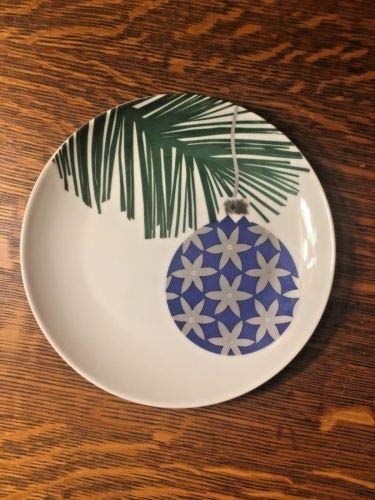 Crate & Barrel Holiday Purple Christmas Ornament on Tree Branch 6 1/2