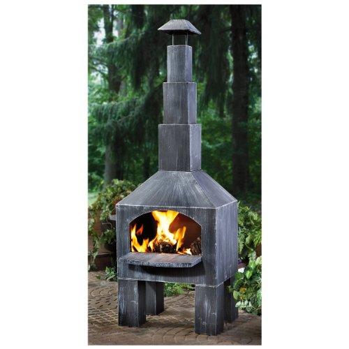 CASTLECREEK Outdoor Cooking Steel Chiminea by CASTLECREEK