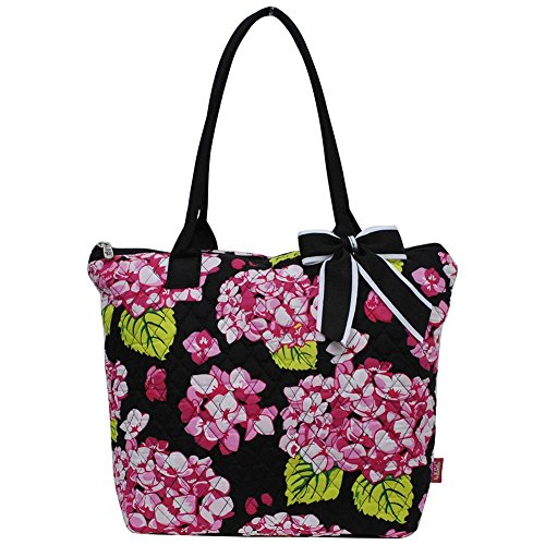 Ngil Quilted Cotton Medium Tote Bag 2018 Spring Collection (Hydrangea (Quilted Zip Top Tote)