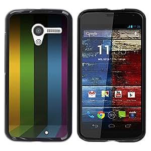 TECHCASE**Cubierta de la caja de protección la piel dura para el ** Motorola Moto X 1 1st GEN I XT1058 XT1053 XT1052 XT1056 XT1060 XT1055 ** Lines Stripes Purple Rainbow Yellow