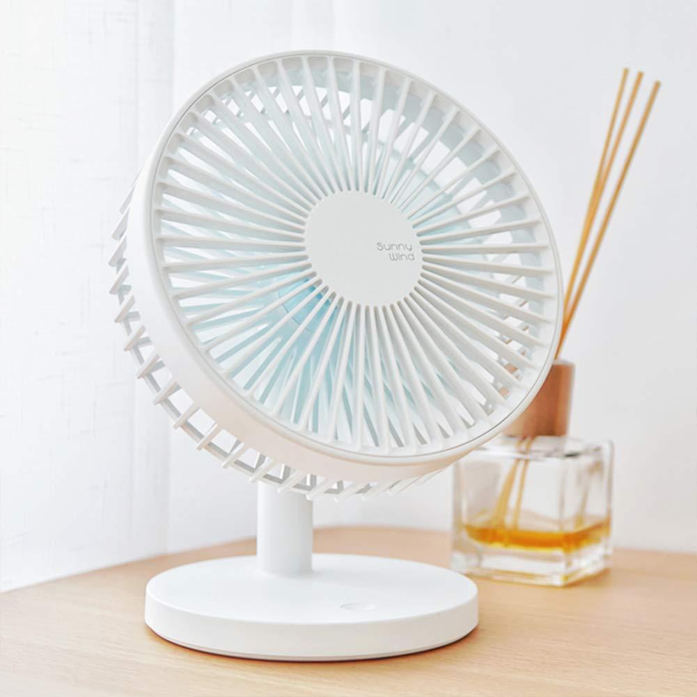 USB Desk Fan 7inch USB Power Fan Rechargeable Ultra-Quiet Third Gear Speed Mini Fan for Office Desktop