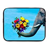 Ministoeb Elephant Flower for Love Laptop Storage Bag - Portable Waterproof Laptop Case Briefcase Sleeve Bags Cover