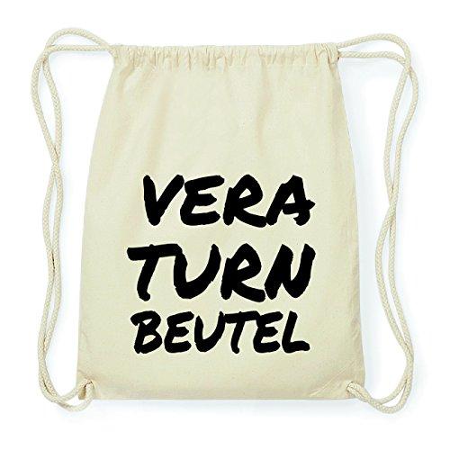 JOllify VERA Hipster Turnbeutel Tasche Rucksack aus Baumwolle - Farbe: natur Design: Turnbeutel