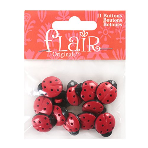 - Blumenthal Lansing Favorite Findings Buttons, Ladybug Shaped, Perfect for Garden Party, Day in The Park or Ladybug Projects -Red and Black