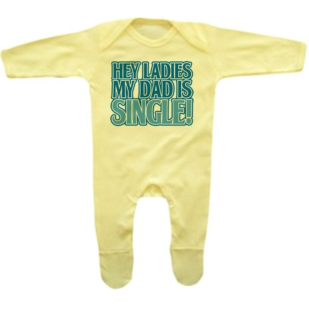 Rompersuit Bang Tidy Clothing Baby Boys Hey Ladies My Dad is Single