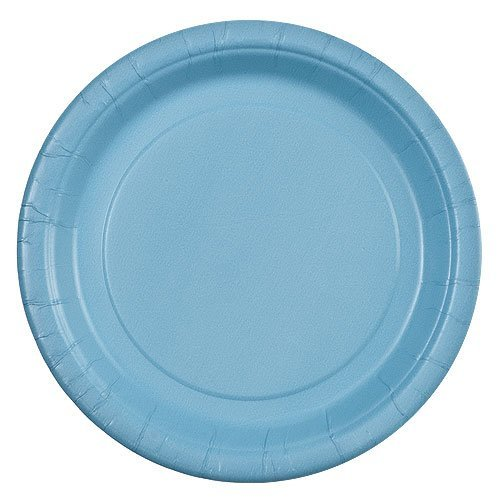 - Party Dimensions 71172 24 Count Paper Plate, 7-Inch, Light Blue