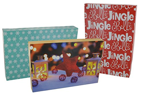 - Emraw Santa-Themed Gift Boxes with Lids Assortment of Christmas Boxes with Holiday Themes (3-Pack) (Medium (14-3/4 X 10 X 2))