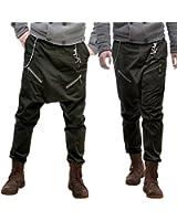 Ba23 Baggy Pantalon Sarouel Homme Créateur 34/36/38/40/42/44/46/48/50/52/54/56/58 (Q2)