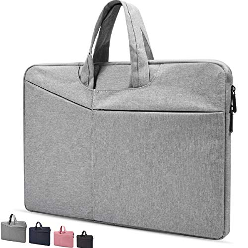 13.3 Inch Laptop Sleeve Water Resistant Case for MacBook Air/Pro,Lenovo Yoga 720/730 13.3,Acer Chromebook 13.3,LG Gram 13.3,Dell XPS 13,HP Samsung ASUS ZenBook, 13-13.5 Inch Notebook Carrying Bag,Grey
