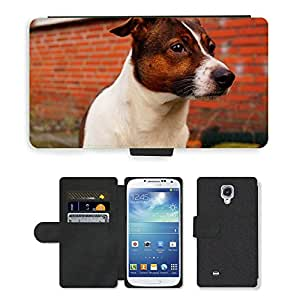 GoGoMobile Flip PU Leather Wallet Case with Credit Card Slots // M00119157 Head Portrait Eye Nose Dog Noble // Samsung Galaxy S4 S IV SIV i9500
