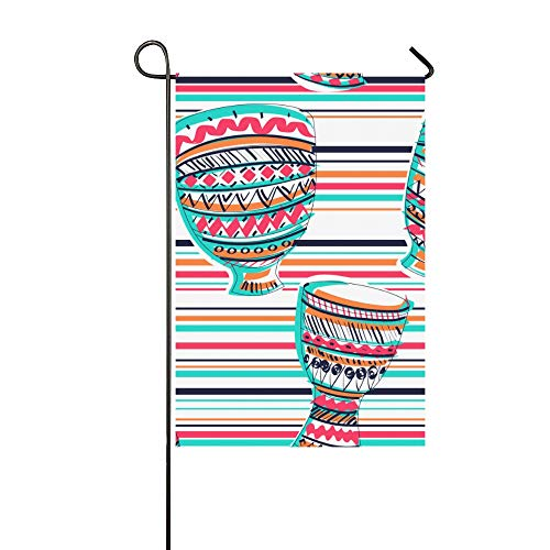 - WHIOFE Home Decorative Outdoor Double Sided Drumming Instrument Band Art Popular Garden Flaghouse Yard Flaggarden Yard Decorationsseasonal Welcome Outdoor Flag 12 X 18 Inch Spring Summer Gift