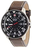 Wenger Swiss Military 79284C Roadster Steel Watch Brown Leather Strap