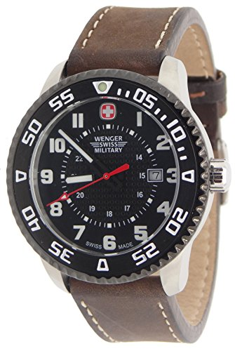 Wenger-Swiss-Military-79284C-Roadster-Steel-Watch-Brown-Leather-Strap