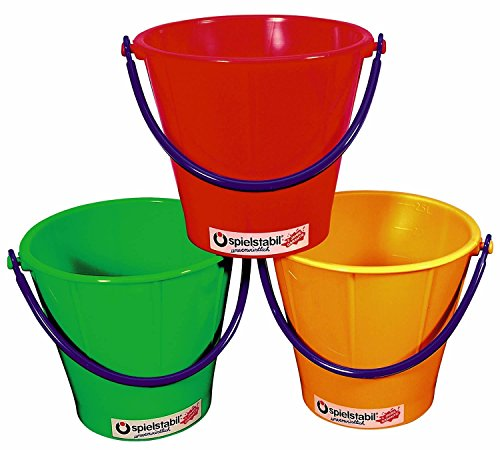 Spielstabil Large Sand Pail - Holds 2.5 Liters - Sold Individually - Colors Vary (Made in Germany)