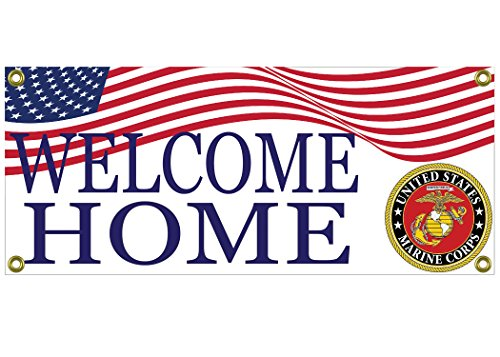 Marine Corps Decorations (Welcome Home Marine Banner Sign USMC 36