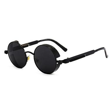 203e116ae Juleya Metal Round Steampunk Sunglasses Men Women Retro Frame Vintage  Sunglasses C1: Amazon.co.uk: Clothing
