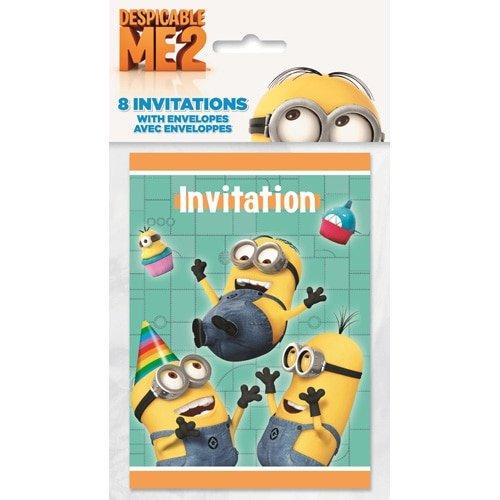 Despicable Me 2 Party Invitations [8 Per