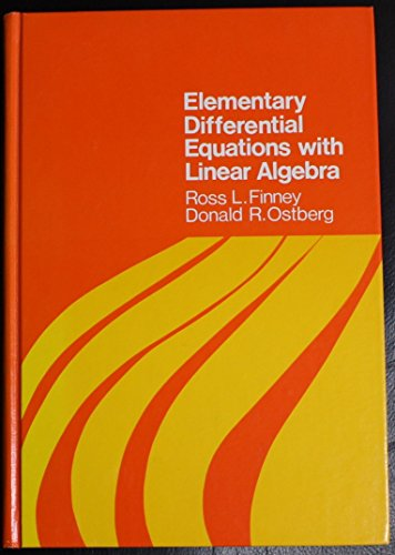 Elementary Differential Equations With Linear Algebra (Addison-Wesley series in mathematics)