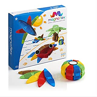 WowWee Magnaflex - Fun in The Sun Set (22 Pieces) - Flexible Magnetic Construction Kit