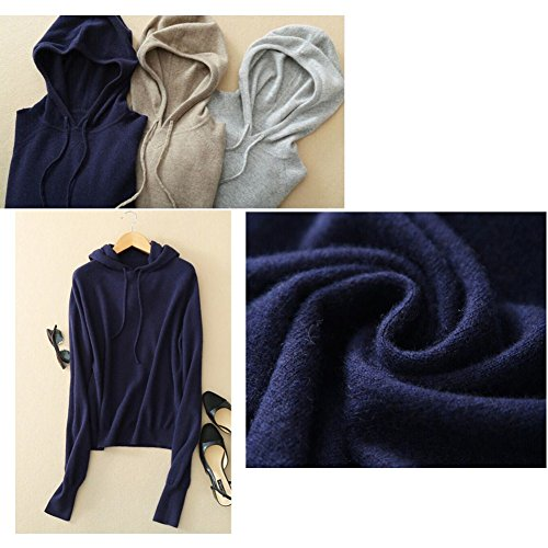 Cappuccio Navy Cashmere Blu in Moda Donna con Pullover 5Sq7Wvxn