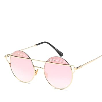 Axiba Gafas de Sol de Moda Las Gafas de Sol Redondas Metal ...